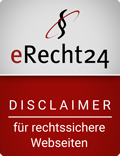 eRecht24 - Siegel - Disclaimer